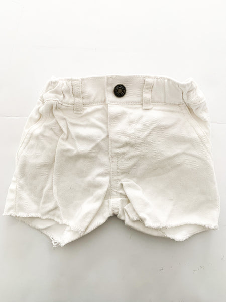 Carter's white denim shorts (6 months)