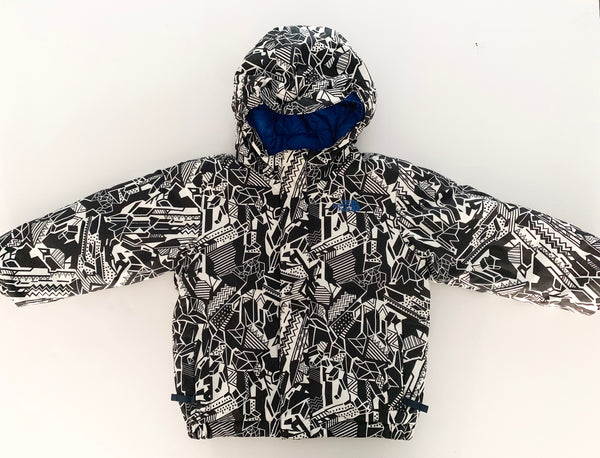 North face BW graphic print with hood( sz 4)