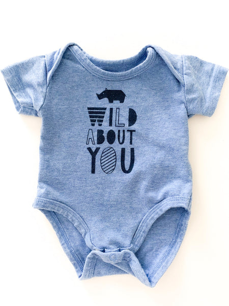 "Petitlem ""wild about you"" onesie"