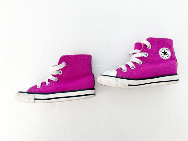 Converse purple hi tops (size 6)