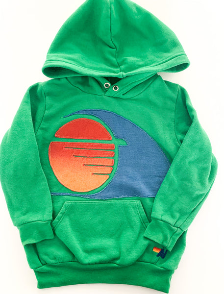 Aviator nation green hood (size 2)