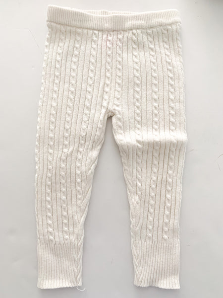 Joe Fresh white cable knit leggings ( sz 2)