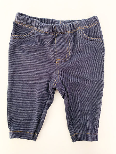 Carter's denim leggings size 3 months