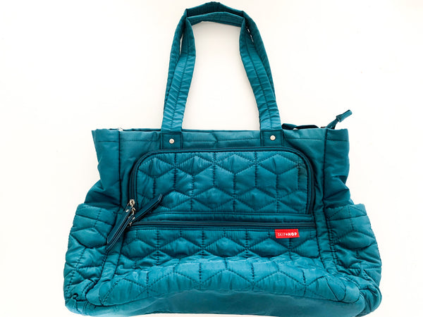 Skip Hop blue diaper bag
