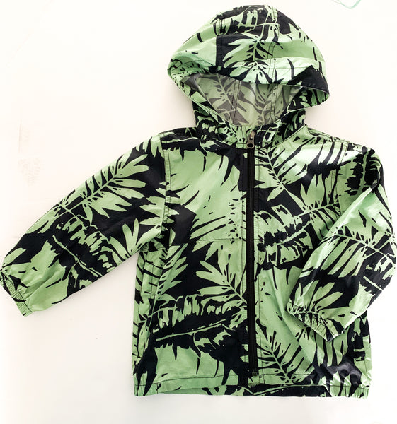 Baby Gap green & black light windbreaker jacket size 2Y
