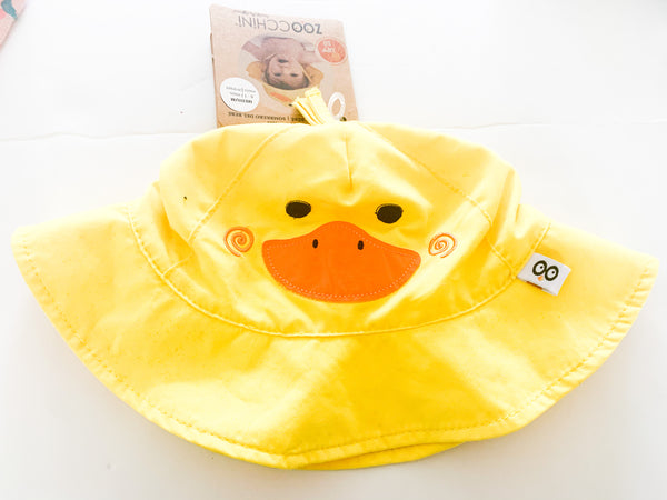 Zoocchini yellow duck sun hat ( 6-12 months)
