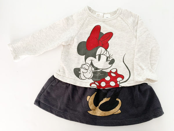 H&M Minnie Mouse sweater dress size: 4-6 months