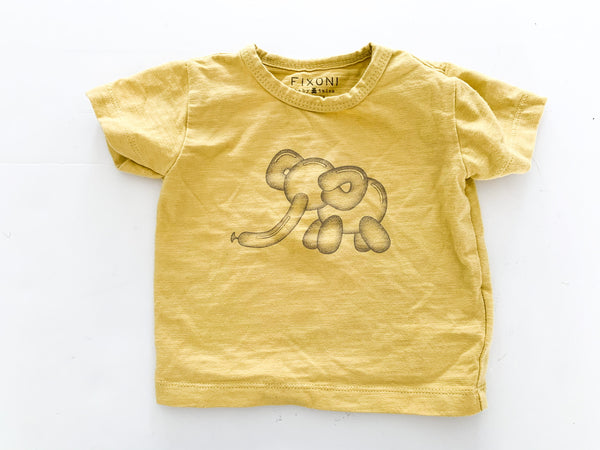 Fixoni tee shirt with ballon shaped elephant print size 62 (3 months)