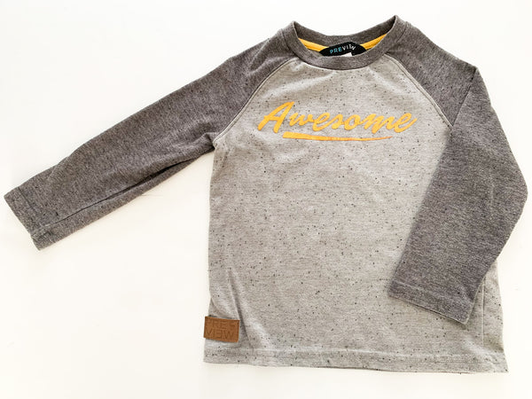 Preview grey 'adventure' grey baseball long sleeve shirt size 4T