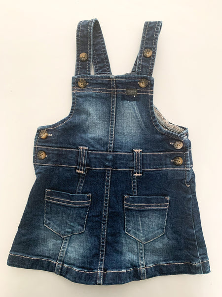 Calvin Klein denim overall dress size 2T