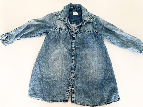 Next denim acid wash dress  (size 4/5)