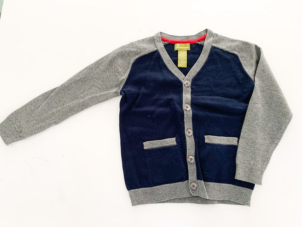 Pandemonium navy and grey cardigan size: 5T