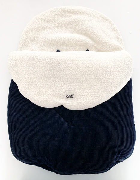Jolly Jumper cuddle bag Navy corduroy - water resistant
