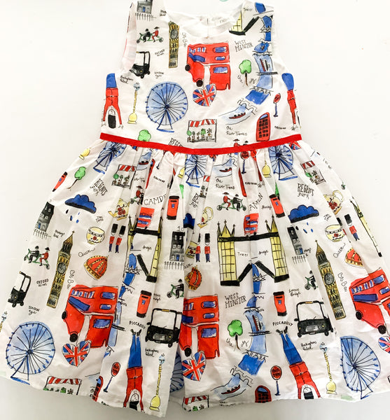 Next London print dress ( sz 5-6)