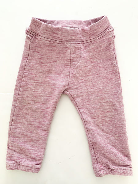 Name It pink heathered sweatpants size 80 (9-12 months)