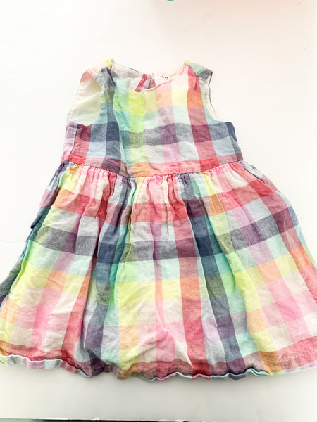 Gap pastel plaid tank dress (size 4)