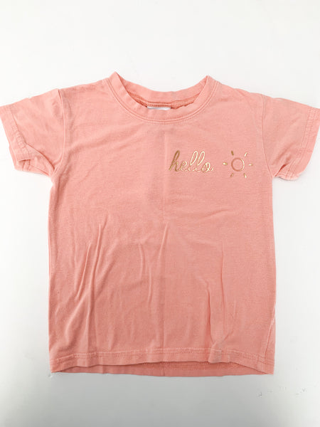 The whimsical fox hello T-shirt (size 2)