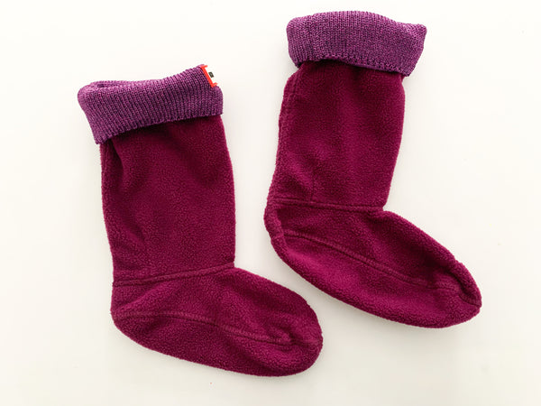 Hunter purple boot socks (size M, sz 11-13)