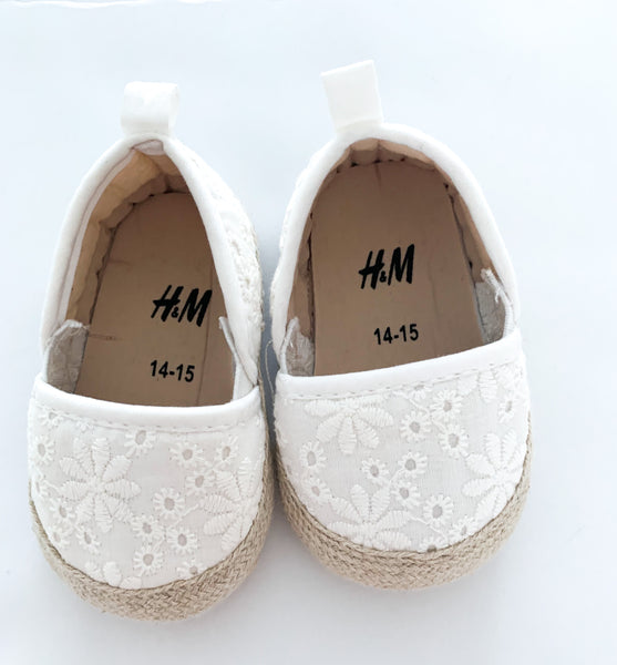 HM eyelet embroidery espadrilles (0-3 months)