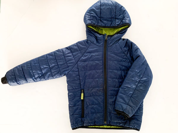 Baby Gap black blue quilted jacket size XS (size 6/7)