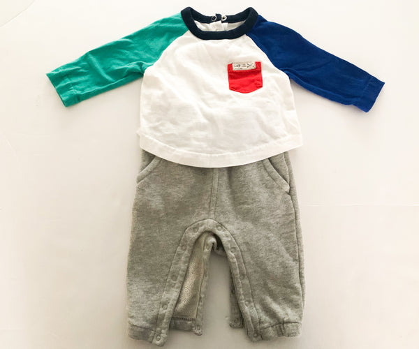 Gap one piece with attached sweats (3-6 months)
