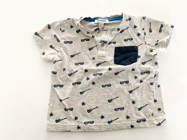 3 pommes sunglasses/guitar grey shirt (9-12 months)