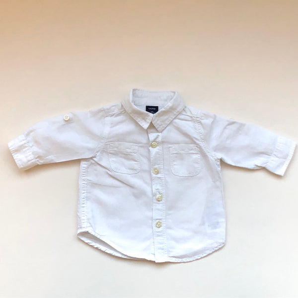 Baby Gap white linen shirt