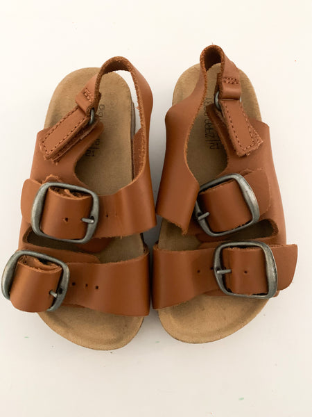 Zara tan double strap sandals (size 5.5)