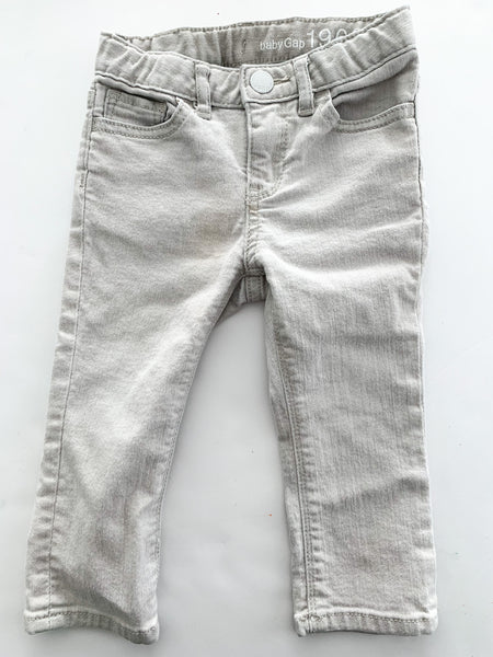 Gap light grey denim jeans (18-24 months)
