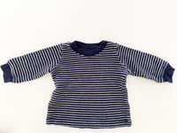 Carters stripe LS shirt w/elbow patches (3 months)