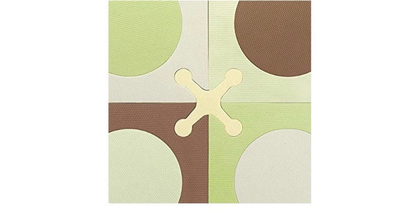 Skip Hop brown & green interlocking foam playmat