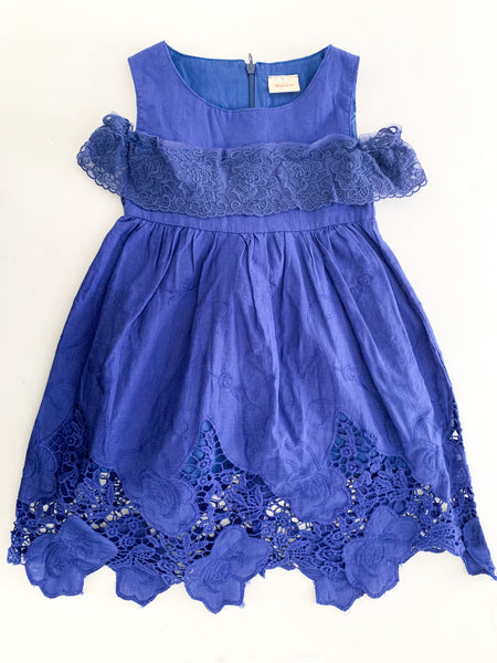 Hurave blue embroidered dress (size 5)