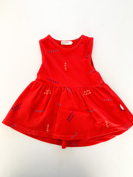 Miles Baby red tank dress (12 months)