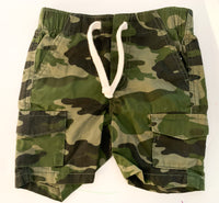 Old navy camo print cargo shorts  (12-18 months)