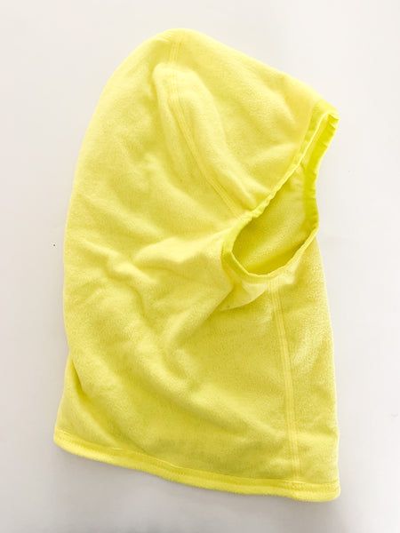 MEC neon yellow fleece balaclava (size large)