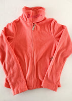 Bench pink/peach fleece sweater jacket size age 11/12