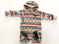Patagonia infant micro D fleece bunting  pattern  (3-6 months)