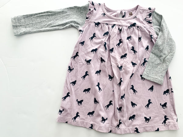 Tea purple horse dress (18-24 months)