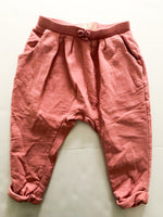 Zara pink pleated pants (12/18 months)