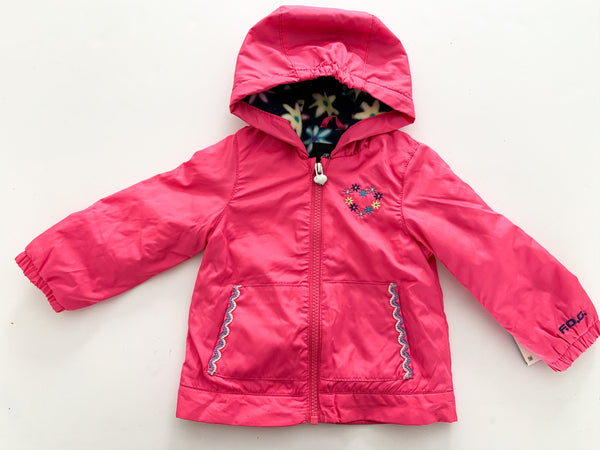 London Fog water resistant fuschia jacket( 12 months )