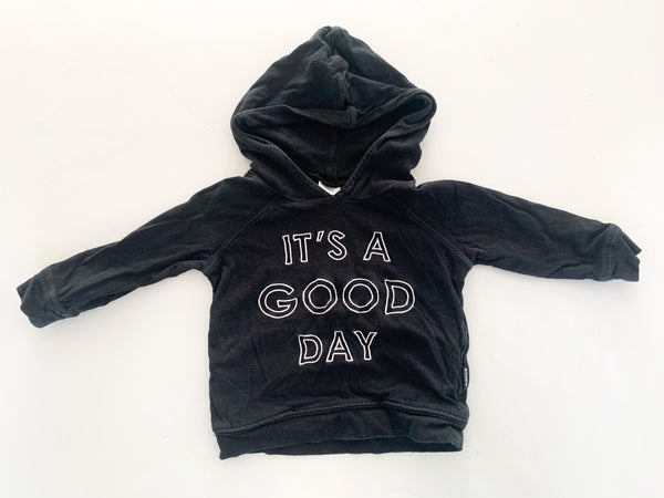 Bonds it's a good day black hood pullover  (3-6 months)