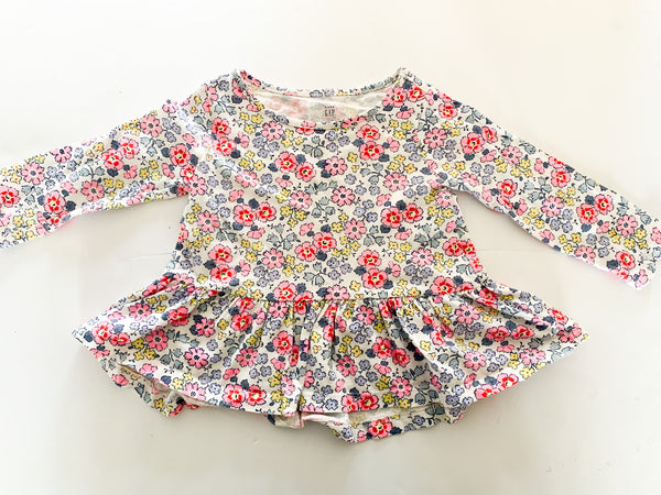 Baby Gap floral long sleeve shirt size: 12-18 months