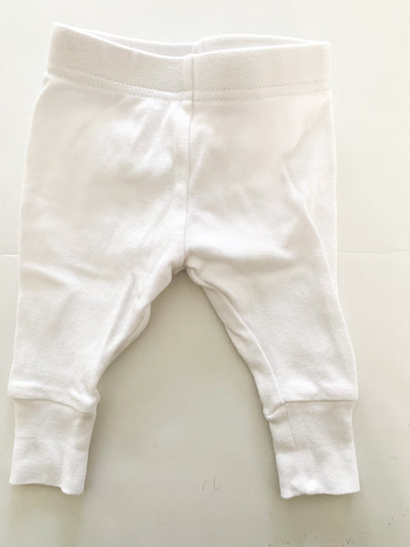 Joe fresh white leggings (0-3 months)