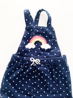 Carters navy polka dot rainbow dress (12 months)