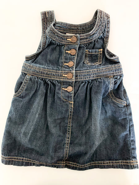 Old Navy dark denim tank dress size: 18-24 months