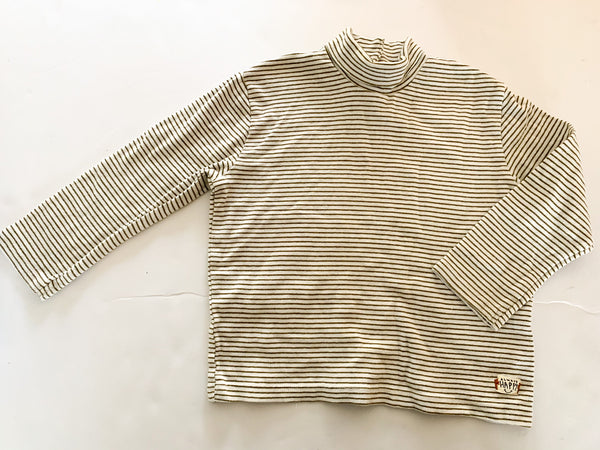 Zara green stripe mock neck long sleeve shirt size 2-3 years