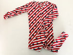 Baby Gap red stripe Mickey Mouse zipper sleeper size 12-18 months