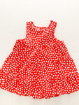 H&M red tiered dress with polka dots size 6-9 months