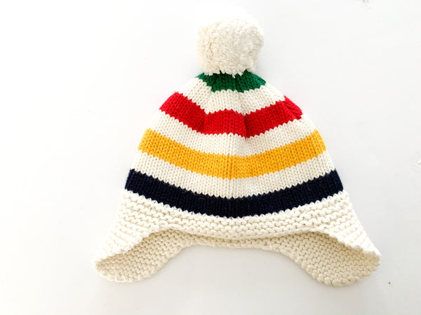 HBC stripes pom toque size 0-6 months