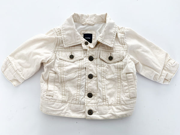Baby Gap natural canvas jacket size: 3-6 months